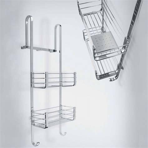 porta accappatoio da doccia cavalletto porta oggetti universale per box doccia cromo