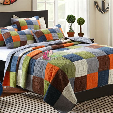quilted bedding aliexpress com buy chausub handmade patchwork quilt set