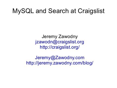 Search Craigslist By Email Mysql And Search At Craigslist