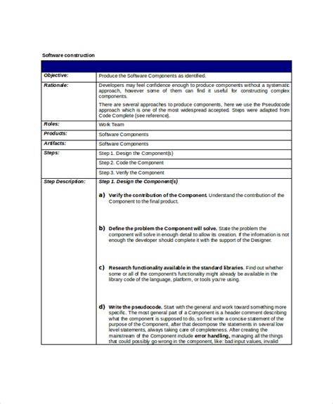 Software Project Template 8 project scope templates free pdf word documents