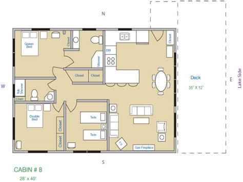 Cabin Layout | small 3 bedroom cabin plans small cabins for rent cabin