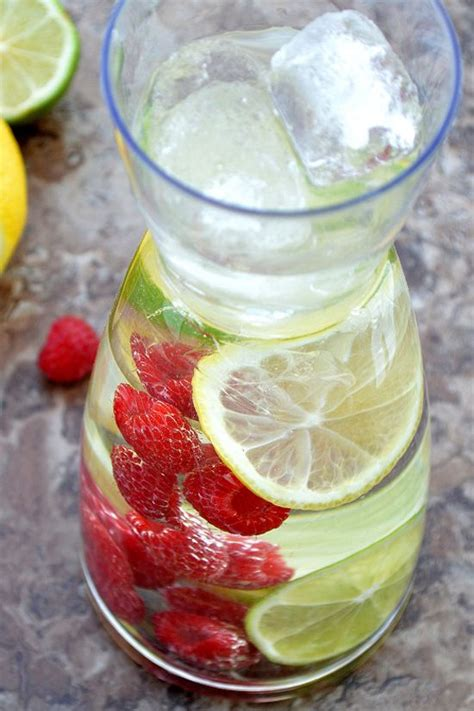 Lemon Lime Raspberry Detox Water by 25 Best Ideas About Fruit Flavored Waters On
