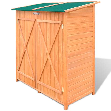 Large Outdoor Storage Sheds by Wooden Shed Garden Tool Shed Storage Room Large Vidaxl