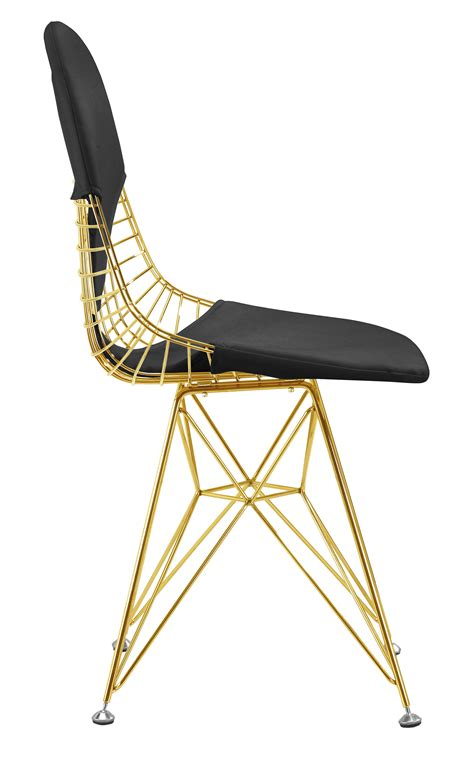black and gold desk chair wire chair in gold finish gold wire side dining chair