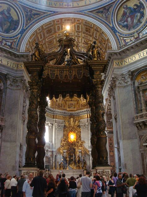 bernini baldacchino st peter s basilica 171 5 wheels to 5