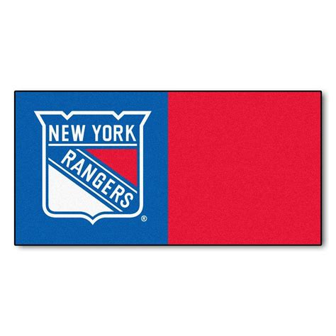 Kitchen Faucets Calgary by Fanmats Nhl New York Rangers Blue And Red Pattern 18 In