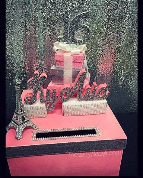 sweet sixteen theme on pinterest 41 pins our paris theme card box for a sweet 16 check out our etsy