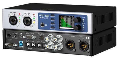 Daftar Audio Interface Usb madiface xt rme audio madiface xt audiofanzine