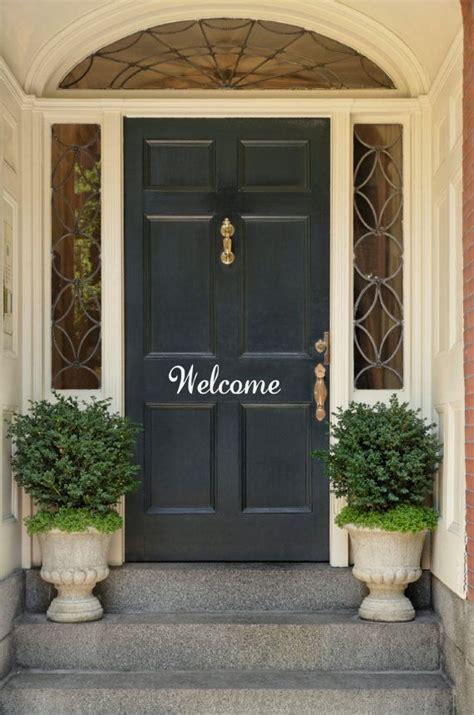 front door vinyl welcome door decal front door decal door vinyl decal