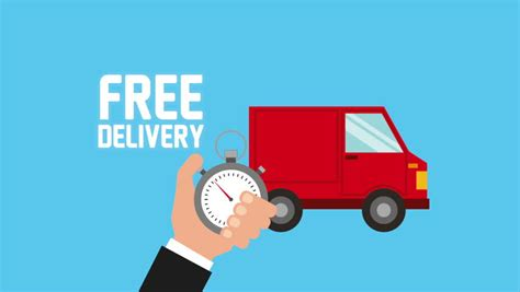 delivery on earth free shipping truck isolated stock
