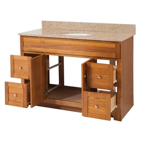 Oak Bathroom Vanity Worthington 48 Inch Oak Bathroom Vanity Burroughs