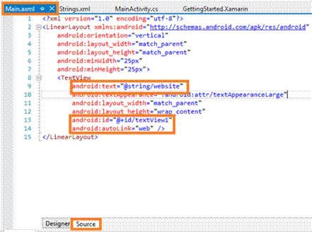 xamarin android textview layout creating an autolink using textview in xamarin android app
