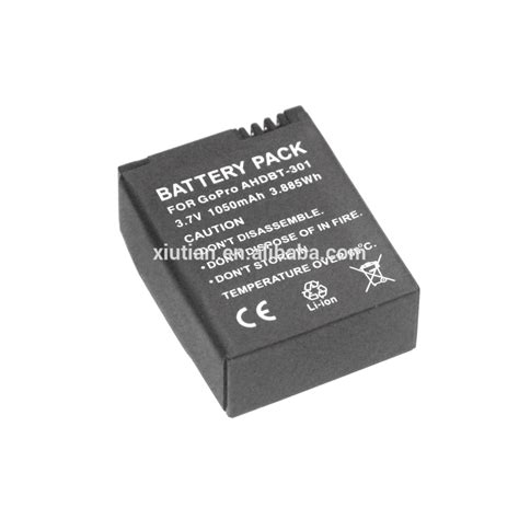 Battery 1050mah For Gopro Hd 3 replacement 3 7v 1050mah battery for gopro hd 3 3