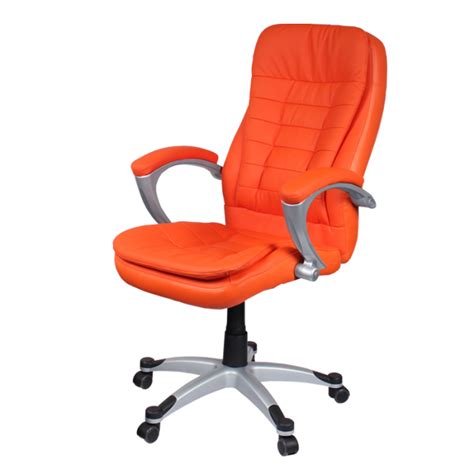 orange leather office chair leather office chair
