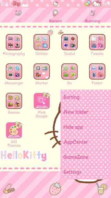 go launcher themes hello kitty apk pretty droid themes hello kitty strawberry go launcher theme