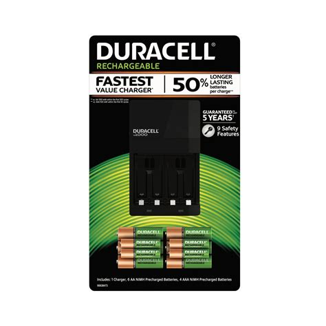 aaa rechargeable batteries and charger duracell rechargeable aa and aaa with battery charger 6