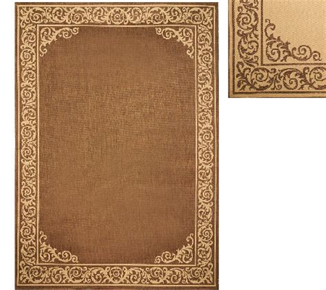 Veranda Indoor Outdoor Rugs Veranda Living 7 X 10 Border Scroll Indoor Outdoor Reversible Rug Page 1 Qvc
