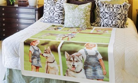 Customized Blankets With Photos by Up To 84 Personalized Photo Or Collage Blankets Groupon