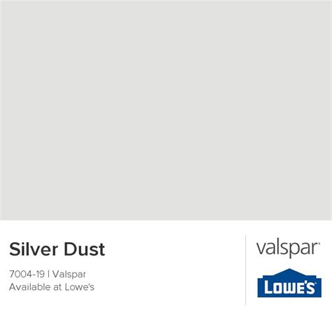 silver dust from valspar colour inspirations