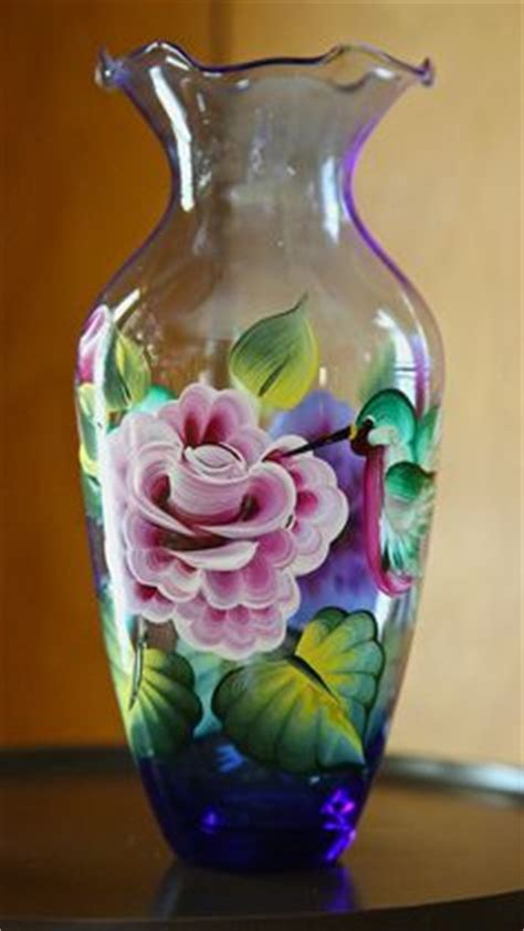 Flower Vase Painting Ideas by Decorate Home With Glass Paintings Decozilla