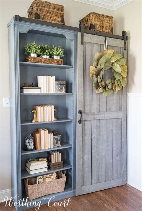 what to put on bookshelves the evolution of a farmhouse style home office before