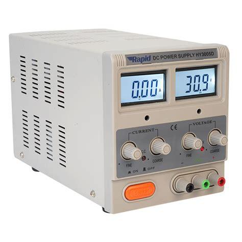 bench psu rapid hy3005d single output bench psu lcd 1x0 30v 0 5a