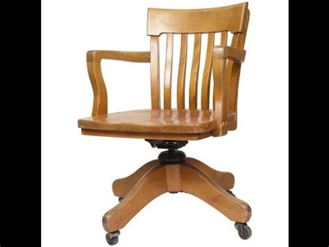 wood office chair antique wood office chair youtube
