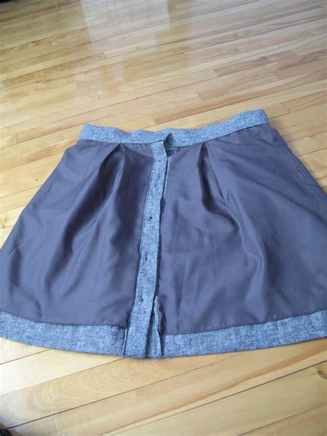 a linen skirt the finished garment