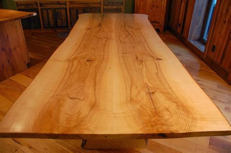 How Tall Are Nightstands live edge table in ash with mortised slab legs corey morgan