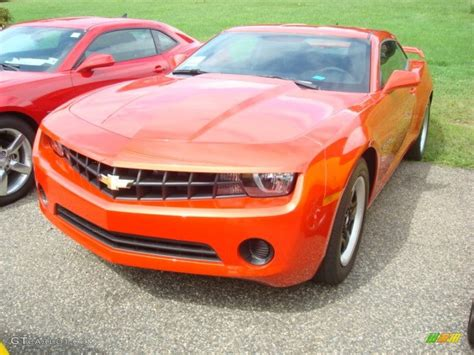2012 inferno orange metallic chevrolet camaro ls coupe 53917895 gtcarlot car color