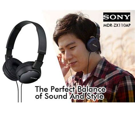 Headset Sony Mdr Zx110 sony mdr zx110 black color headphone with high quality sound