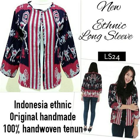 jual ethnic outwear tenun outer blazer cardigan batik lousie fashion tokopedia