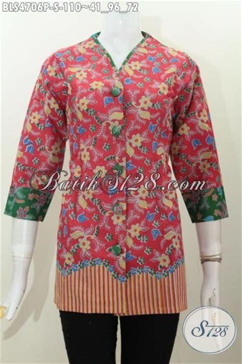 Blus Rok Batik Warna Kode Ba5281 batik blus model terbaru warna merah pakaian batik wanita