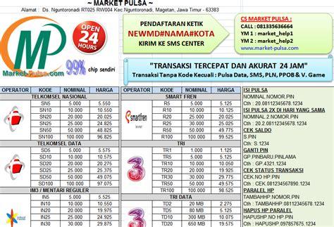 cara membuat brosur daftar harga pulsa download contoh brosur pulsa elektrik