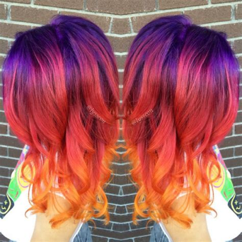 sunset hair color sunset hair is the trend to take