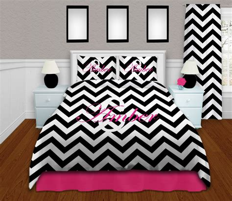 chevron bed set black and white modern king comforter set in chevron print