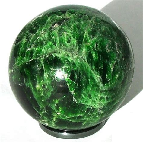 Chrome Diopside chrome diopside sphere russia yakutia russian gems shop