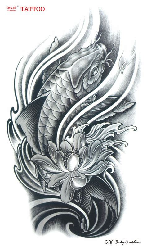 koi fish and lotus tattoo designs koi fish lotus flower tattoos search tattoos