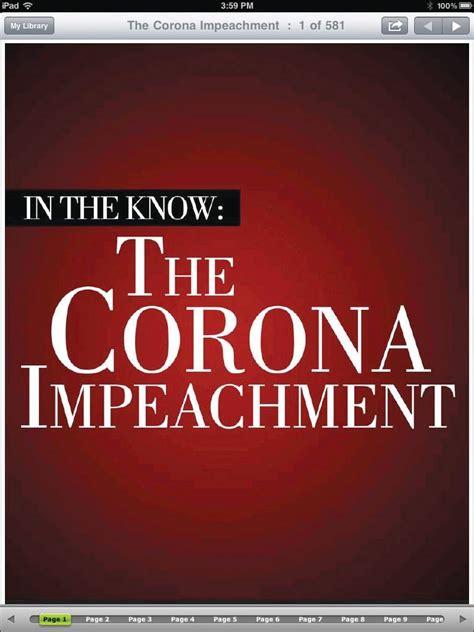 the for impeachment books inquirer releases version 2 of corona impeachment e book