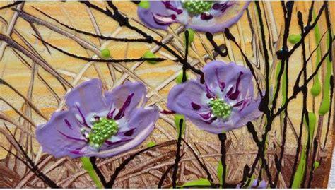 dipinti fiori astratti fiori astratti lilla vendita quadri quadri