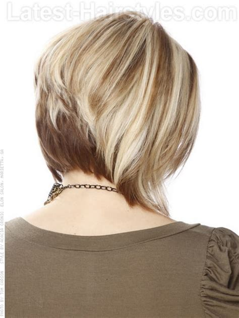 back view of mid length hair bob graduated stacked wedge cut newhairstylesformen2014 com