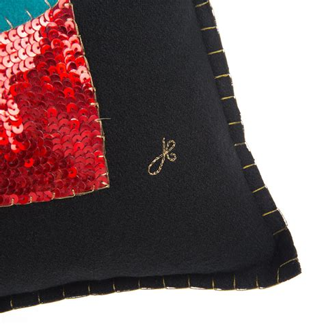 Glam Rock Product by Buy Jan Constantine Glam Rock Sequin Boot Cushion Black
