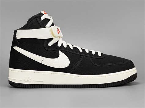 Nike Air 1 High nike air 1 high canvas black sail sneaker bar detroit