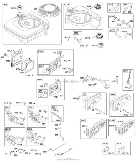 briggs and stratton fuel diagram briggs and stratton 123k02 0440 e1 parts diagram for air