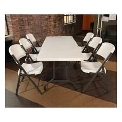 Lifetime 6 Foot Folding Table Lifetime 6 Ft Commercial Plastic Folding Banquet Table White 22901