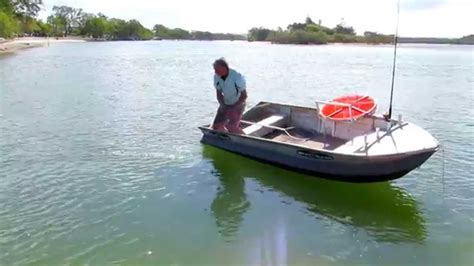 small boat stabilizer small boat acts big with a boat collar youtube