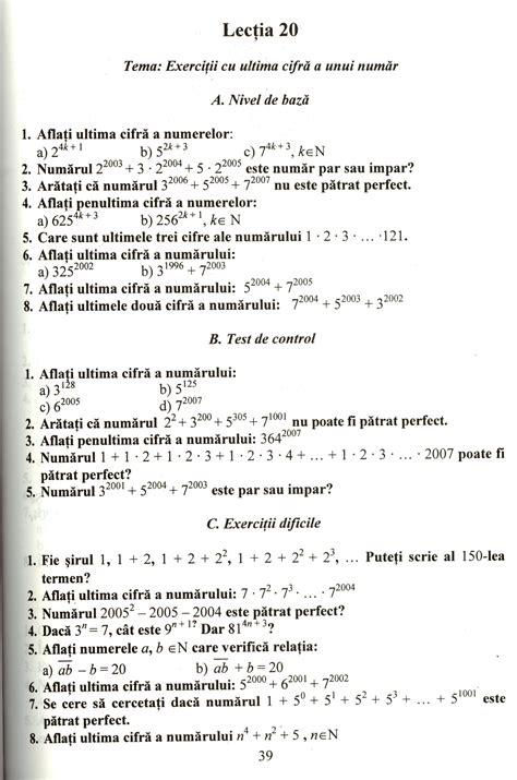 test matematica fise matematica clasa 1 de printat wowkeyword