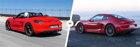 Porsche Cayman Vs Boxster by Porsche Boxster Vs Cayman Driver S Car Duel Carwow