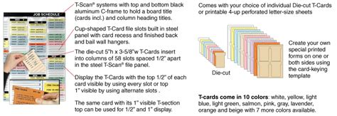 magnatag card insert template t scan visible t card display system