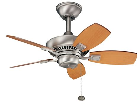 kichler outdoor ceiling fans kichler kichler 300103ni brushed nickel canfield 30